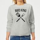 bbq-king-women-s-sweatshirt-grey-xxl-grau