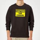 caution-dad-cooking-black-sweatshirt-xl-schwarz