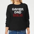 gamer-dad-level-up-black-women-s-sweatshirt-l-schwarz