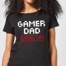 gamer-dad-level-up-black-women-s-t-shirt-m-schwarz