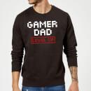 gamer-dad-level-up-black-sweatshirt-m-schwarz