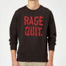 rage-quit-black-sweatshirt-l-schwarz, 29.99 EUR @ sowaswillichauch-de