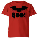 boo-bat-red-kids-t-shirt-9-10-years-rot