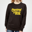creepin-it-real-black-women-s-sweatshirt-l-schwarz