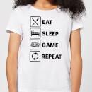 eat-sleep-game-repeat-white-women-s-t-shirt-m-wei-