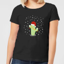 cactus-santa-hat-black-women-s-t-shirt-xl-schwarz