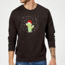 cactus-santa-hat-sweatshirt-black-m-schwarz