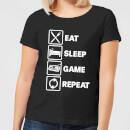 eat-sleep-game-repeat-black-women-s-t-shirt-xl-schwarz, 17.49 EUR @ sowaswillichauch-de