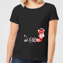 flower-fox-women-s-t-shirt-black-m-schwarz