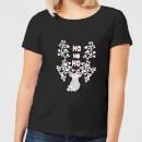ho-ho-ho-reindeer-women-s-t-shirt-black-l-schwarz