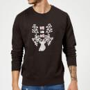 ho-ho-ho-reindeer-sweatshirt-black-m-schwarz