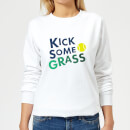 kick-some-grass-women-s-sweatshirt-white-xs-wei-