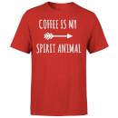 coffee-is-my-spirit-animal-red-t-shirt-s-rot