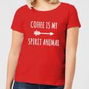 coffee-is-my-spirit-animal-red-women-s-t-shirt-s-rot