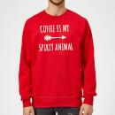 coffee-is-my-spirit-animal-red-sweatshirt-s-rot, 18.99 EUR @ sowaswillichauch-de
