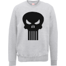 marvel-the-punisher-skull-logo-manner-sweatshirt-grau-s-grau