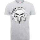 marvel-the-punisher-skull-badge-manner-t-shirt-grau-xl-grau