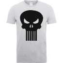 marvel-the-punisher-skull-logo-manner-t-shirt-grau-xl-grau