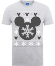 disney-mickey-mouse-mickey-christmas-men-s-grey-t-shirt-m-grau
