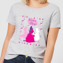 disney-princesses-christmas-silhouette-winter-magic-women-s-grey-t-shirt-m-grau