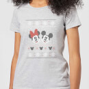 disney-mickey-and-minnie-mouse-christmas-women-s-grey-t-shirt-m-grau