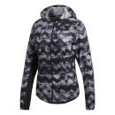 adidas Women's Adizero Track Jacket Black-White XS Black-White