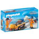 Playmobil City Action Luchtverkeersleiders met bagagetransport
