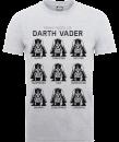 star-wars-many-faces-of-darth-vader-t-shirt-grey-xl-grau