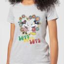 disney-mickey-mouse-hippie-love-frauen-t-shirt-grau-3xl-grau