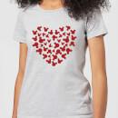 disney-mickey-mouse-heart-silhouette-frauen-t-shirt-grau-3xl-grau