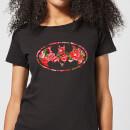 dc-comics-floral-batman-logo-frauen-t-shirt-schwarz-xxl-schwarz