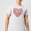 disney-mickey-mouse-heart-silhouette-t-shirt-grau-3xl-grau