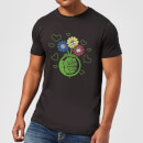 marvel-avengers-hulk-flower-fist-t-shirt-schwarz-l-schwarz