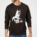 dc-comics-batman-the-strong-silent-type-pullover-schwarz-s-schwarz