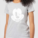 disney-mickey-mouse-worn-face-frauen-t-shirt-grau-3xl-grau