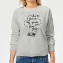 i-d-pause-my-game-for-you-women-s-sweatshirt-grey-xl-grau