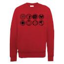 marvel-avengers-assemble-team-icons-sweatshirt-red-s-rot