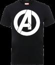 marvel-avengers-simple-logo-t-shirt-schwarz-xxl-schwarz