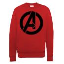 marvel-avengers-assemble-simple-logo-sweatshirt-red-s-rot