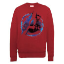 marvel-avengers-assemble-flared-logo-sweatshirt-red-xl-rot