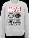 """Sudadera Marvel Los Vengadores Unidos """"Emblemas"""" - Hombre - Gris"""
