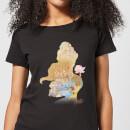 Camiseta Disney La Bella y la Bestia Silueta Bella Be Strong - Mujer - Negro - XS - Negro Negro XS