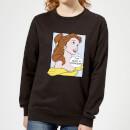 disney-beauty-and-the-beast-princess-pop-art-belle-women-s-sweatshirt-black-l-schwarz