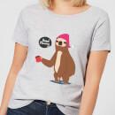 sloth-good-morning-women-s-t-shirt-grey-xs-grau