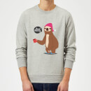 sloth-good-morning-sweatshirt-grey-5xl-grau