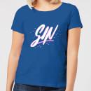 gin-script-women-s-t-shirt-royal-blue-xl-royal-blue