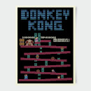 "Póster Retro Nintendo ""Donkey Kong"""