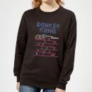 nintendo-retro-donkey-kong-damen-pullover-schwarz-xs-schwarz