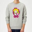 nintendo-super-mario-peach-kanji-sweatshirt-grey-xl-grau