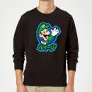 Sudadera Nintendo Super Mario Luigi Kanji - Hombre - Negro - 5XL - Negro Negro XXXXXL
